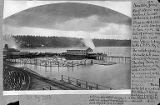 Columbia and Puget Sound Railway Co. wharf, 1882