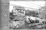 Denny residence during regrade, 1911.