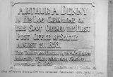 Denny memorial plaque, ca. 1905