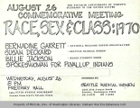 August 26 Commemorative Meeting -- Race, Sex and Class: 1970