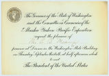 Invitation to Edmond S. Meany from the Governor of the State of Washington to attend a dinner for...