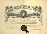 Alaska-Yukon-Pacific Exposition general invitation, Seattle, Washington, 1909