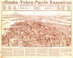 Bird's-eye view of the grounds of Alaska Yukon Pacific Exposition to be held in Seattle from June...
