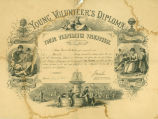 Young Temperance Volunteer's diploma