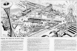 Gayway 21 amusement zone, artist's rendering, Seattle World's Fair, 1961