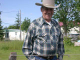 Don Jose near his home in Forks, 2005
