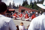 Latinas presenting a traditional dance outside Peninsula College Bookstore, Port Angeles, May 2,...