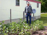 Don Jose and his garden outside his home in Forks, 2005