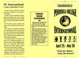 Peninsula College International, April 25-May 30, an information brochure probably produced at...