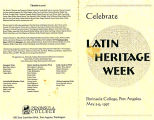 Celebrate Latin Heritage Week, Peninsula College, Port Angeles, May 5-9, 1997