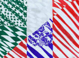 Drawing of Mexican and U.S. flags merging, produced on the Olympic Peninsula, 2005