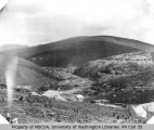 Gold Hill, Forks and mining claims from Cheechako Hill, May 22, 1900