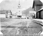 Lincoln Street and the Russian Orthodox Cathedral of Saint Michael, Sitka, ca. 1901