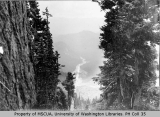 Nisqually Canyon and Nisqually River Valley from Paradise Park, Mount Rainier, ca. 1896