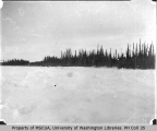 Lewis River frozen over, March 12, 1901