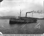 Steamer CITY OF SEATTLE transferring mail from disabled ship FARRALON, November 21, 1901