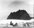 P. V. Caesar at Echo Rock, northwest slope of Mount Rainier, July 19, 1910