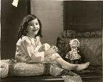 Child film actress Lassie Lou Ahern.