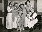 "Dottie Farley and the Gay Blades in ""The Drunkard."""