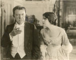 "Clara Kimball Young and George Fawcett in a scene from ""The Claw"""