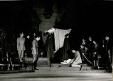 "A scene from ""Hamlet.""  Dated 1947.  Includes Maurice Evans (above)."