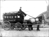 Bon Marche Department Sstore horse-drawn wagon, n.d.