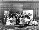 "Edgewater Congregational Church theatrical group in costume for the play ""The District..."