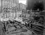 Alaska Building construction, June 14, 1904