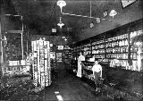 Drugstore interior at 3401 Fremont Ave., ca. 1900