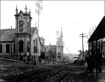First Presbyterian Church, 4th Ave. at northwest corner of Spring St, ca. 1890