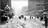 2nd Ave. and University St. after a snowstorm, winter 1916
