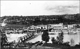 Opening of the Lake Washington Ship Canal, Hiram M. Chittenden locks, July 4, 1917