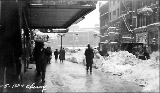 1st Ave. and Cherry St. after a snowstorm, winter 1916