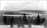 Lake Union and Queen Anne, looking southwest from the University of Washington campus, ca. 1898