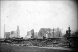 Aftermath of the Seattle fire of June 6, 1889, looking north on 1st Ave. S.