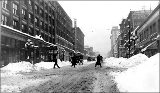 3rd Ave. from James St. after a snowstorm, January 1916