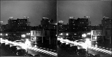 Scene at night, vicinity of 5th Ave. and Blanchard St., 1938