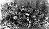 Aftermath of the Seattle fire of June 6, 1889, showing excavation work.