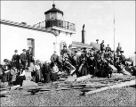 Mountaineers Club outing at West Point Lighthouse, February 17, 1907