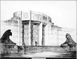 Seattle Art Museum, architectural rendering of exterior, ca. 1932