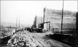 Aftermath of the Seattle fire of June 6, 1889 looking south on 1st Ave. from Columbia St.