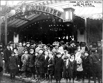 Circuit Theater showing crowd for children's free day, ca. 1916