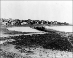 Dike across East Green Lake Bay, ca. 1913