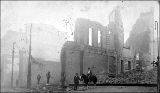 Aftermath of the Seattle fire of June 6, 1889, showing ruins of Frye's Opera House at Northeast...