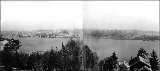 Panorama looking northeast across Portage Bay toward the University of Washington campus, 1909