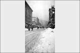 2nd Ave., looking north from Spring St. after a snowstorm, February 2, 1916