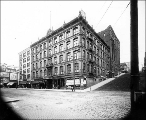 Hotel Stevens, northeast corner of 1st Ave. and Marion St.,