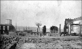 Aftermath of the Seattle fire of June 6, showing a view toward the waterfront, 1889