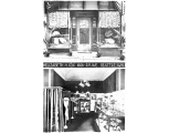 Elizabeth H. Cox hat shop, storefront and interior, ca. 1909