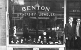 Benton University Jeweler shop storefront, n.d.